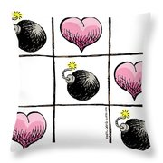 Valentine Violence Throw Pillow