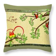 Valentine's Cards 8 Throw Pillow