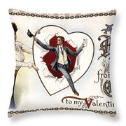 Valentines Day Card, 1909 Throw Pillow