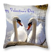 Valentine's Day Greeting Throw Pillow