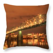 Valentine's Day In Chattanooga Throw Pillow