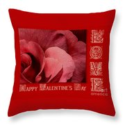 Valentines Day Love Throw Pillow