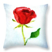 Valentine's Day Rose Throw Pillow