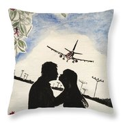 Valentine Kiss Throw Pillow