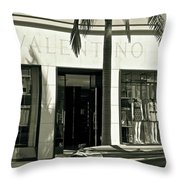 Valentino On Rodeo Drive Throw Pillow