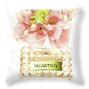 Valentino With Peony Throw Pillow