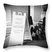 Valet Parking Throw Pillow