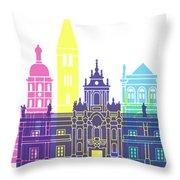 Valladolid Skyline Pop Throw Pillow