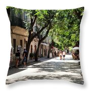 Valldemossa Street View Throw Pillow