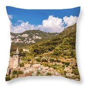 Valldemossa View From The Town Throw Pillow