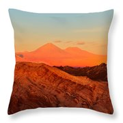 Valle De La Luna - San Pedro De Atacama Throw Pillow