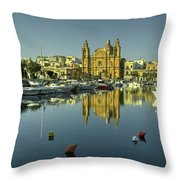 Valletta Reflected  Throw Pillow