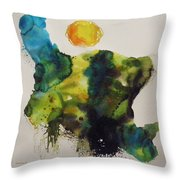 Valley Farmland Throw Pillow
