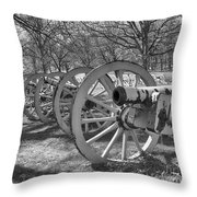 Valley Forge Battery Blackened White Throw Pillow