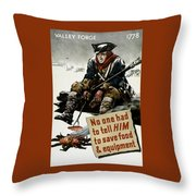 Valley Forge Soldier - Conservation Propaganda Throw Pillow