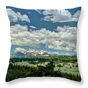 Valley In The Rockies Throw Pillow