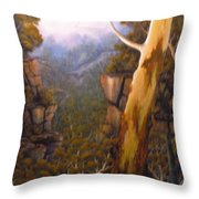 Valley Morning Dew Throw Pillow