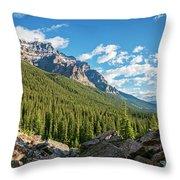 Valley Near Moraine Lake Banff Throw Pillow