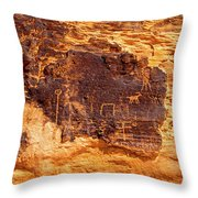 Valley Of Fire Ancient Petroglyphs Throw Pillow