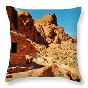 Valley Of Fire Cabin Throw Pillow