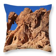 Valley Of Fire Elephant Rock Throw Pillow