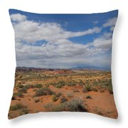 Valley Of Fire Horizon Throw Pillow