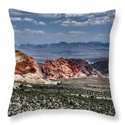 Valley Of Fire Iv Throw Pillow