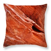 Valley Of Fire Mouse's Tank Sandstone Wall Portrait Throw Pillow