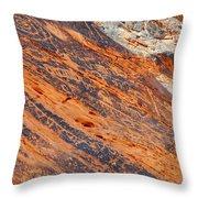 Valley Of Fire Petroglyphs Throw Pillow