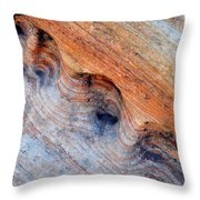 Valley Of Fire Rainbow Sandstone Throw Pillow