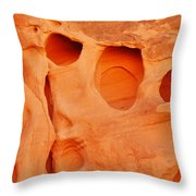 Valley Of Fire Sandstone Throw Pillow