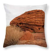 Valley Of Fire State Park Beehives Throw Pillow