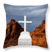 Valley Of Fire State Park Clark Memorial Throw Pillow