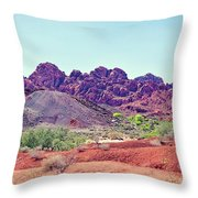 Valley Of Fire State Park, Nevada Throw Pillow