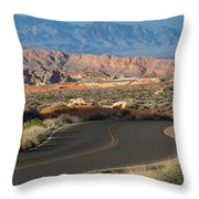 Valley Of Fire State Park Rainbow Vista Throw Pillow