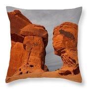 Valley Of Fire State Park Seven Sisters Throw Pillow