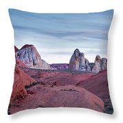 Valley Of Fire Sunset Throw Pillow
