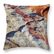 Valley Of Fire White Domes Sandstone Throw Pillow