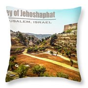 Valley Of Jehoshaphat, Jerusalem, Israel Throw Pillow