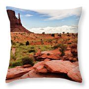 Valley Of The Rocks Throw Pillow