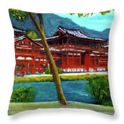 Valley Of The Temples Buddhist Temple #73 Throw Pillow