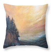Valley Of Trees Throw Pillow