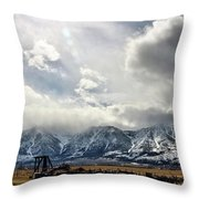 Valley Storm Throw Pillow