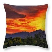 Valley Sunset H33 Throw Pillow