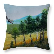 Valley View From Up The Hill Throw Pillow