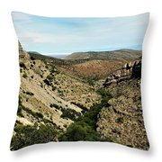Valley View Of Whitesands Throw Pillow