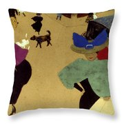 Valloton: Street Corner Throw Pillow