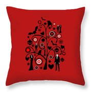 Vampire Art Throw Pillow