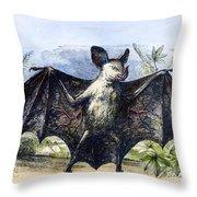 Vampire Bat Throw Pillow
