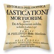 Vampire Book, 1679 Throw Pillow
